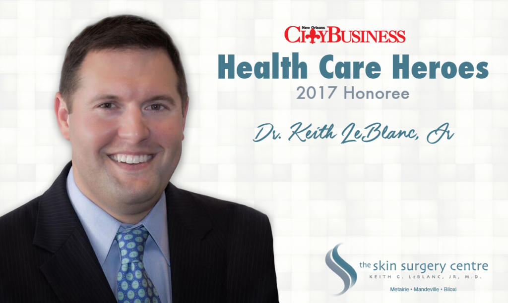 New Orleans CityBusiness Health Care Heroes 2017 Dr Keith LeBlanc Jr